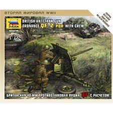 Zvezda 1/72 British Anti-tank Gun Ordnance QF 2 PDR With Crew # 6169