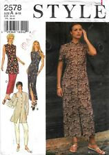DRESS 3 STYLE TOP-PANTS PATTERN 8-18FF LADIES STYLE #2694 GREAT FOR TRAVEL
