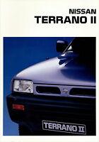 Nissan Terrano II Prospekt 1993 7/93 brochure Autoprospekt prospectus brosjyre