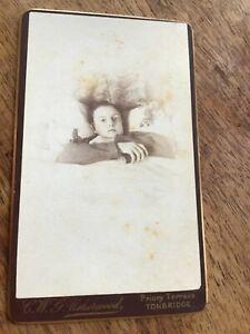 CDV  SICKLY INVALID BOY IN BED  Tonbridge KENT 1870s CDV Photo 24/9