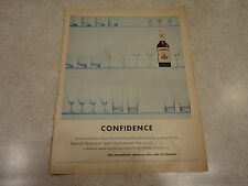 "1960 Corby's Whiskey Vintage Magazine Ad ""Confidence"""