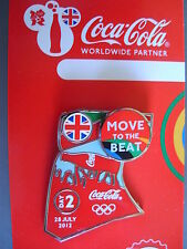 COCA COLA PIN BADGE - LONDON 2012 - DAY 2 MOVE TO THE BEAT - MOC