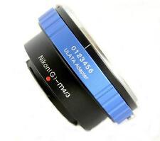 ULATA Lens Mount Adapter Nikon G AF-S to Micro 4/3 M43 MFT EM5 GH3 EP5 AIGM43BL