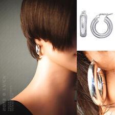 Boucles d'oreilles Créoles 25mm en ARGENT 925 - Neuves