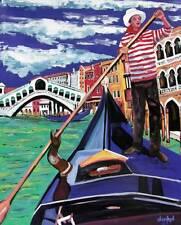 ROMANTIC VENICE GONDOLA ORIGINAL Art PAINTING DAN BYL Modern Contemporary 4x5ft