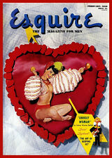 Vintage Valentine Poster Reproduction Esquire Unholy Woman Heart 1950 14x18 New