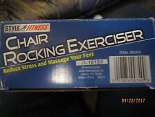 NIB STYLE FITNESS CHAIR ROCKING FOOT RELIEF Massage Exercise REDUCE Stress