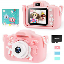 Unicorn Kids Camera for Girls Toddler - Mini Digital Camera Toys for 3 4 5 6 7 8