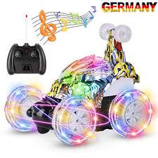 Ferngesteuertes Auto 360° Wiederaufladbar RC Stunt Auto Rennauto mit Musik & LED