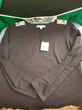 NWT $95 Girls Burberry Solid Black Long Sleeve Top 10