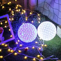 100 LED Cherry Blossom Ball Lamp Romantic Wedding Party Fairy String Light Decor