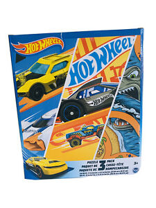 HOT WHEELS 3 PACK PUZZLE Educational Jigsaw Kids 24 / 48 / 100 Piece Cars New