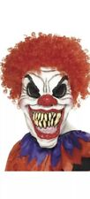 Scary Clown Mask with Hair Evil Halloween Fancy Dress Adult Accessory