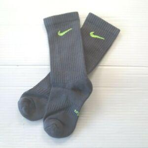 Nike Boys Everyday Cushioned Crew Socks - SX6955 - Dark Gray - Size M - NEW
