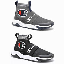 2021 New Mens Champion Rally Pro Lifestyle High Top Shoes Black Grey 2 colours