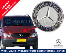 MERCEDES VITO-V CLASS FLAT STYLE FRONT BONNET BADGE 2 PINS NEW A6388170116