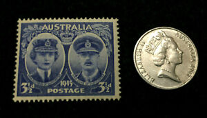 Australia Collection - Unsed Stamp & 5 Cents Used Coin - Educational Item