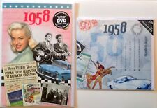 1958 BIRTHDAY GIFT SET - 1958 DVD 60min Pop CD and Year Greeting Card