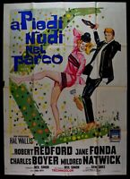 Werbeplakat A Barfuss IN Park Jane Fonda Robert Redford Boyer Natwick M49