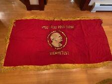Soviet Latvian Russian Award Banner Fkag