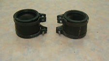 1971 SUZUKI T-500 OEM INTAKE JOINTS (2) /CLAMPS (4)
