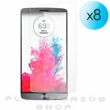 8x SHEETS PROTECTORS OF SCREEN ULTRA TRANSPARENT FOR LG G3 D855 QUALITY