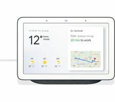 Google гнездо концентратор умный дом голос активированный Google помощник экран-древесный уголь