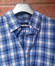 Mens Check Shirt.AUSTIN REED, Size M. Blue Multi. 100% Cotton VGC.