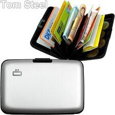 Ögon Unisex Porta carte Smart Wallet Portamonete Stoccolma alluminio Argento