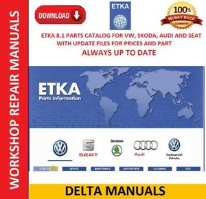 ETKA 8.1  INTERNATIONAL ENGLISH AUTOMATIC UPDATE PARTS AND PRICES UP TO DATE