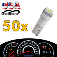 50X Cool White T5 5050 1SMD Dashboard Gauge LED Wedge Lamp Bulb Light 58 70 73