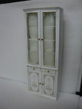 DOLLHOUSE CABINET-WHITE-HAND PAINTED