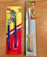 """Fuller 10"""" Groove Joint Plier and 5/16"""" x 6"""" Heavy Screwdriver Set USA Made"""