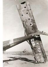 Paul Wolff & Tritschler Vintage Gelatinesilber Nordafrika Flugzeug Abschuss WKII