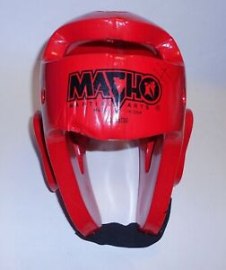 Macho Red Adult Headgear Head Protector MMA Taekwondo Judo Karate