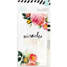 Heidi Swapp Personal Memory Planner - Clear Dividers x6 Floral w Gold Foil