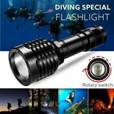 Bright Professional Diving Flashlight Portable Torch Underwater Waterproof Lamp