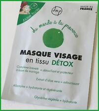 Masque Visage  En Tissu Détox DMP   Du monde à la provence