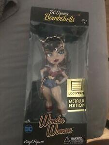 Cryptozoic DC Comics Bombshells Wonder Woman Vinyl Figure - Metallic Edition