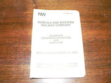 Norfolk and Western Railway Company Rules for Equipment Operation and Handling