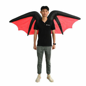 Inflatable Devil Angel Wings Evil Bat Halloween Scary Costume Black Red