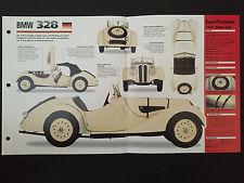 1937 BMW 328 IMP Hot Cars Spec Sheet Folder Brochure RARE
