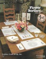Flower Borders for Counted Cross Stitch Leaflet 28 Carolina Cross Stitch Vintage