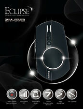 Zalman ZM-GM3 Eclipse Laser Gaming Mouse, 8200DPi, 9 Programmable Buttons