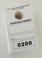 Parking Permit Pass Hang Tag Office Business, Apartment 50 pack