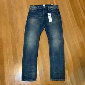 New John Elliott x GAP GQ Men's 30 x 30 Selvedge Slim Skinny Jeans Indigo