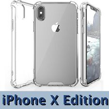 iPhone X Edition Case Bumper AntiSlip AntiScratch Cover for iPhone 10 - HD Clear