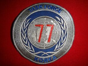 Korea War US Navy Task Force TF-77 Patch