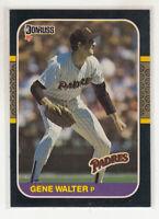 GENE WALTER 1987 Donruss #511 Padres Error Variation Oddball Blank Back