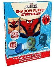 Marvel Spiderman Shadow Puppet Storyteller Book Torch Show Kids Story Toy Kit